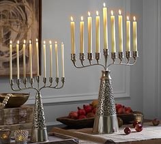Punched Metal Menorah #potterybarn so pretty yet so expensive.