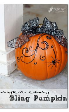 love this!!  the perfect amount of bling on a pumpkin