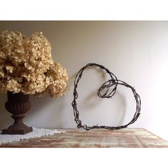 Barbed Wire Heart Wreath Heart Wall Hanging Rustic Farmhouse Chic... ($32) ❤ liked on Polyvore featuring home and home decor