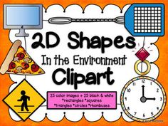 2D Shapes in the environment clipart