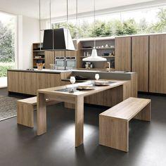 Une cuisine en bois lumineuse et originale ! #interiordesign #interiordecor #cuisine #décoration #idéedéco #déco