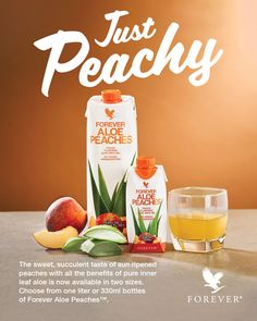 If you want a peachy start to your new year, make sure to drink Aloe Peaches first thing on January (and all the days after!) There's nothing quite like the sweet taste of aloe and peaches to make your digestive system sing! Aloe Vera Uses, Aloe Vera For Skin, Natural Aloe Vera, Aloe Blossom Herbal Tea, Forever Aloe Berry Nectar, Aloe Drink, Peach Drinks, Forever Business, Izu