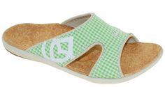 Spenco Women's Kholo Sandals Gingham Grass Green Style 39-369 #Spenco #Slides