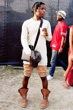 ASAP Rocky wearing Balenciaga Hooded Anorak | ASAP Rocky Fashion ...