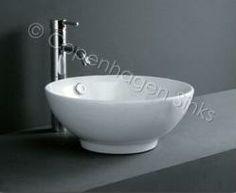 Round White Porcelain Ceramic Bathroom Vessel Sink Basin 02 (PR- OC02 7048 819 Porcelain Sink)