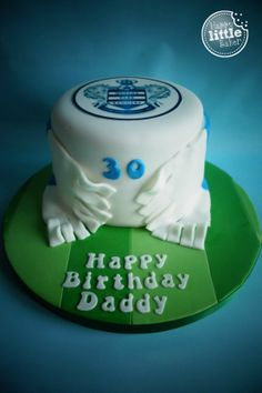 QPR (Queens Park Rangers FC) themed birthday cake.