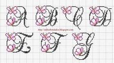 Resultado de imagem para letras em ponto cruz