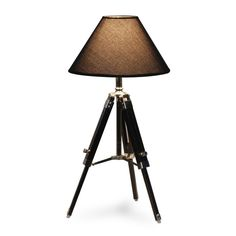 black navy table lamp