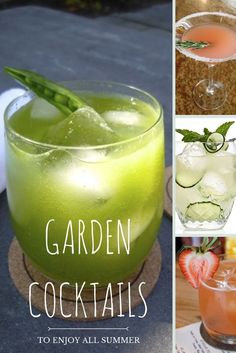 17 Garden Cocktails to Last You All Summer Long --> http://www.hgtvgardens.com/photos/summer-cocktails?soc=pinterest