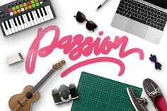 Passion Typeface + Swashes by Maulana Creative on @creativemarket