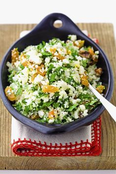 This gluten free paleo cauliflower rice salad from The Grain-Free Family Table is simple and super delicious.