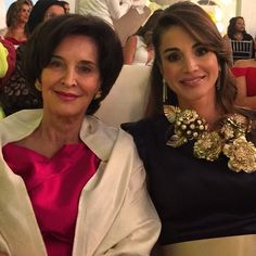 Queen Rania and her mom