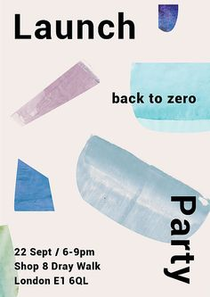 Join us for a drink to celebrate the release of our brand new Collection at our 'Back to Zero' Launch Party! Thursday 22nd September / 6-9pm at The Old Truman Brewery RSVP - gina@alfiedouglas.com
