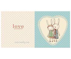 Bunnies in love, Double Card