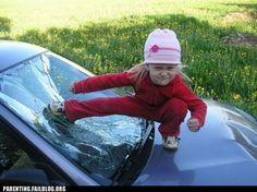 Strong little girl ;)
