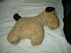 Plush dog. Colchester Historeum collection, Truro