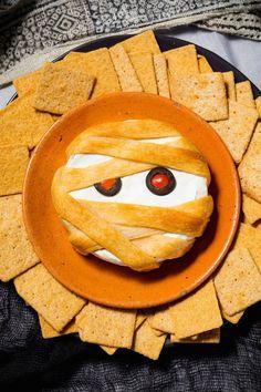 Halloween Appetizers - Mummy Brie