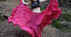 Jaipur Polka Dot Skirt 25yard freepeoply banjara India bellydance tribalfusion