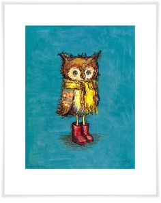 Owl in Big Red Boots