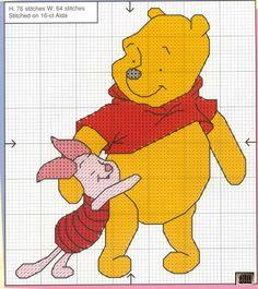 Piglet & Pooh hugging 2 of 2