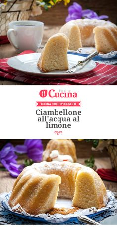 Ciambellone all'acqua al limone