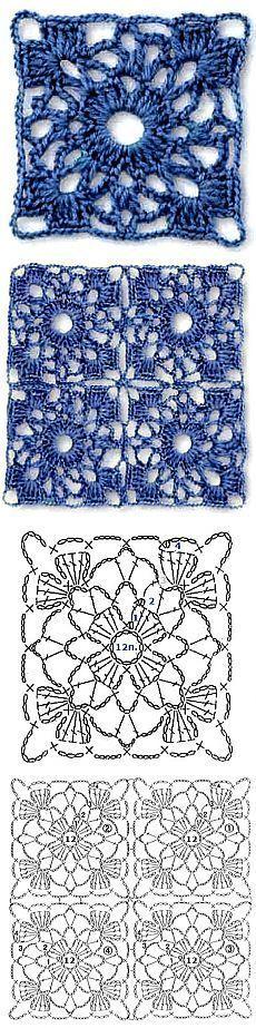 Transcendent Crochet a Solid Granny Square Ideas. Inconceivable Crochet a Solid Granny Square Ideas. Filet Crochet, Crochet Motifs, Crochet Blocks, Crochet Diagram, Crochet Chart, Crochet Squares, Love Crochet, Crochet Doilies, Crochet Flowers