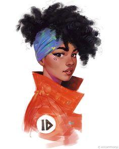 ArtStation - Orange, Eric-Anthony Johnson - Miriam Andrews Photo Page Black Love Art, Black Girl Art, Art Girl, Black Girls Drawing, Black Girl Cartoon, Black Art Pictures, Black Anime Characters, Black Artwork, Magic Art