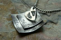 Hand Stamped Layered Diamond Necklace  Choose a by JoyBelleJewelry, $18.00