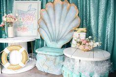 Tables + Decor from a Mermaid Oasis Themed Birthday Party via Kara's Party Ideas | KarasPartyIdeas.com (5)