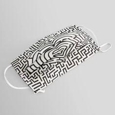 Ultimate heart maze in black Face Mask Black Mask, Ear Loop, Mask Design, Maze, Face Masks, Heart, Online Shopping, Stuff To Buy, Facial Masks