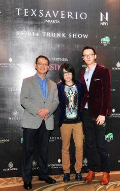 Mr. Rudy Suliawan, Mr. Tex Saverio and Mr. Jo Saverio