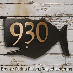 Whale House Numbers Plaque  $146.00