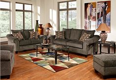shop for a sierra dunes charcoal 5 pc living room at rooms to go find