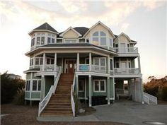 """Selah"" is a beautiful luxury home on Hatteras Island. With the owner's remarkable attention to detail, you'll make memories to last a ... That porch"