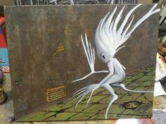 """Sprite"" acrylic on canvas by Shaun Lambert"