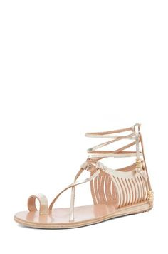 e309bdd9a89 Shop for Ancient Greek Sandals Ino Metallic Leather Sandals in Platinum at  FWRD. Free 2 day shipping and returns.