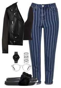 """""""Untitled #369"""" by caits10 ❤ liked on Polyvore featuring Topshop, Puma, Yves Saint Laurent, GlassesUSA, The Horse and M.N.G"""