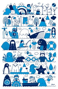 Sonni Studios - it would look lovely in a kids room as wall paper