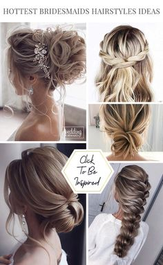 48 Hottest Bridesmaid Hairstyles For 2020/21 + Tips & Advice ♥ Check out bridesmaid hairstyles for any hair length here. Inspiration for elegant updos, curls, and even mismatched hairstyles for your girls. #wedding #bride #weddingforward #BridesmaidHairstyles Wedding Curls, Long Hair Wedding Styles, Wedding Hairstyles For Long Hair, Easy Hairstyles, Wedding Bride, Girl Hairstyles, Short Hair Styles, Wedding Rings, Wedding Ideas
