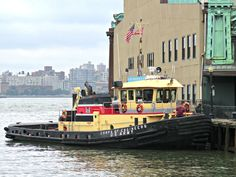 U.S. Army Corps of Engineers tugboat the Gelberman on the Hudson River viewed from Hoboken, New Jersey. August 11, 2015.