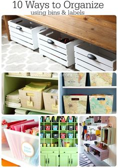 Organizing with Bins and Labels
