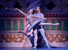 "The Sugar Plum Fairy and her Cavalier, Tempe Ostergren and Lamin Pereira dos Santos, dance in the Land of the Sweets in Act 2, during Wednesday's dress rehearsal of ""The Nutcracker"" by the Kansas City Ballet at the Kauffman Center for the Performing Arts on December 2, 2015 in Kansas City, MO."