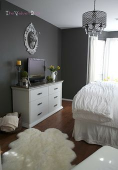 what colors go with black bedroom furniture - yahoo image search