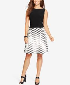 American Living Dotted-Skirt Sateen Dress but I'd need a sweater for the air-conditioned office!