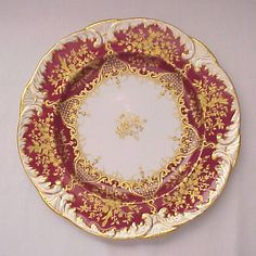 Spode - Jeweled Copelands China Dinner Plate - Circa 1894