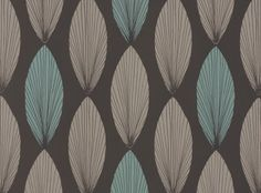 Laurus Wallcovering Lagoon - Fougere Wallcoverings : Romo Designer Fabrics & Wallcoverings, Upholstery Fabrics