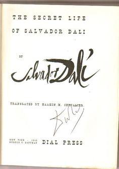 Salvador Dali, Secret Life, Arabic Calligraphy, Arabic Calligraphy Art