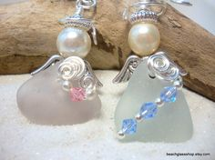 Sea Glass Beach Glass Angels from the shores of by beachglassshop, $30.00