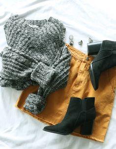 Honey Bell Denim Skirt - Mustard #lovepriceless