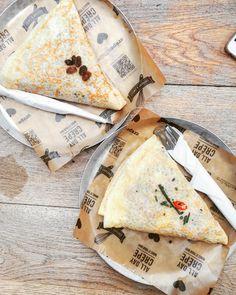 Crepeaffaire #halal Top: Moroccan Crepe Bottom: Mexican Chicken Crepe